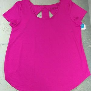 Be Inspired Athletic Top XL Pink Peekaboo Back